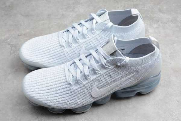 Nike Air Vapormax Flyknt 3.0 White Grey Trainers On Sale