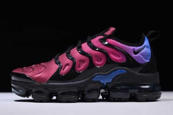 Womens Nike Air VaporMax Plus Black/Team Red/Hyper Violet-Racer Blue AO4550-001