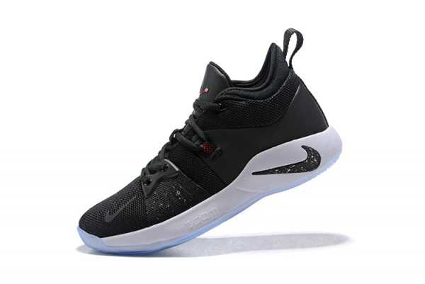"Men's Nike PG 2 ""Taurus"" Black/White-Solar Red Basketball Shoes AJ2039-003"