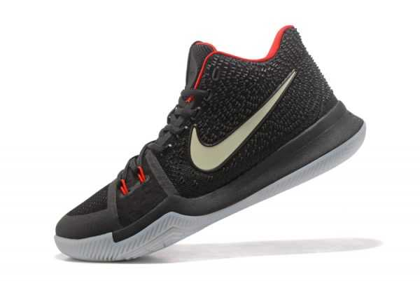 "Glow in the Dark Nike Kyrie 3 ""Black Red"" Men's Basketball Shoes"
