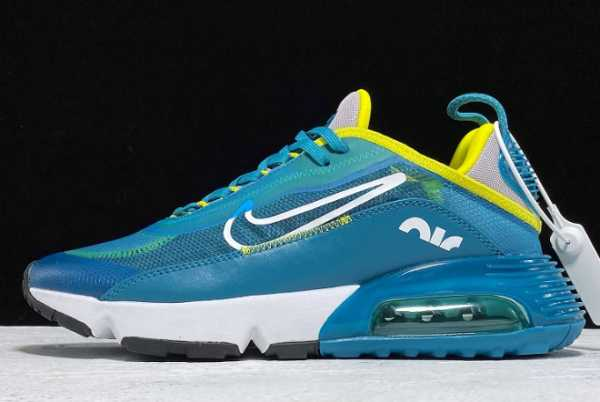 CD4365-005 Nike Air Max 2090 Teal Bule/White-Yellow For Sale