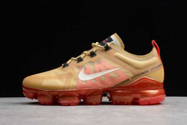 "Nike Air VaporMax 2019 ""Crimson Gold"" Club Gold/Ember Glow AR6631-701"