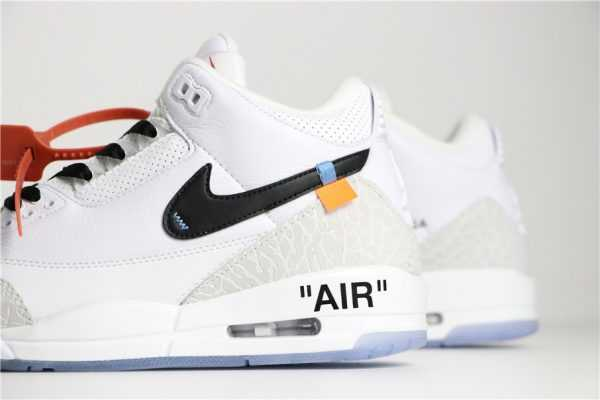 2018 Off-White x Air Jordan 3 Pure White/Black Men