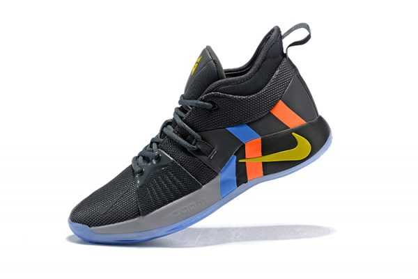 2018 Nike PG 2 PE Black/Metallic Gold/Grey/Orange/Blue