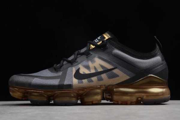 Nike Air VaporMax 2019 Black/Metallic Gold For Sale