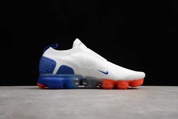 2018 Men's and Women's Nike Air VaporMax Moc 2 White/Indigo Burst-Solar Red