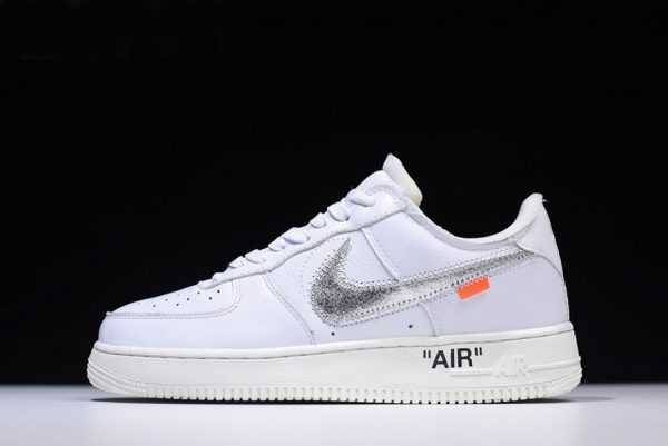 "2018 Off-White x Nike Air Force 1 Low ""ComplexCon"" White/Metallic Silver-Sail AO4297-100"