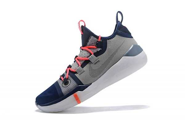 2018 Nike Kobe AD Grey/Navy Blue-White-Crimson Free Shipping