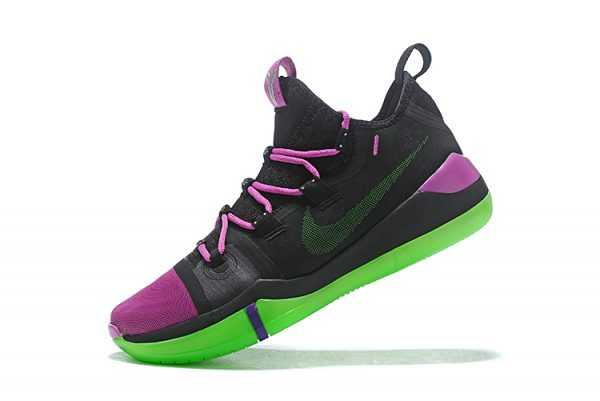 2018 Nike Kobe AD Black/Purple-Green Cheap Sale