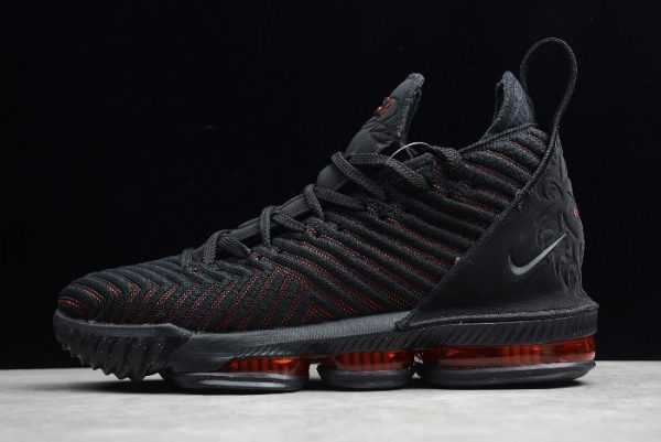 "Nike LeBron 16 EP ""Fresh Bred"" Black-University Red Mens Sneakers AO2595-002"