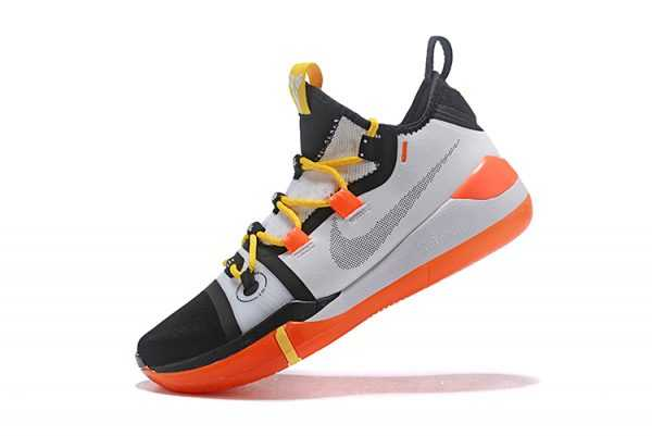 2018 Nike Kobe AD Black/White-Yellow-Orange Basketball Shoes