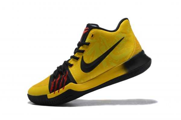 "Bruce Lee Nike Kyrie 3 ""Mamba Mentality"" Tour Yellow/Black Basketball Shoes AJ1692-700"