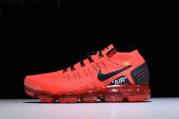 "New Off-White x Nike Air Vapormax Flyknit 2.0 ""Gym Red"" Men's Size"