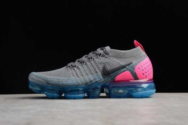 "2018 Nike Air VaporMax Flyknit 2.0 ""Gunsmoke"" Women's Running Shoes 942843-004"
