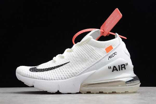 Off-White x Nike Air Max 270 Flyknit White/Black Free Shipping AH6789-101