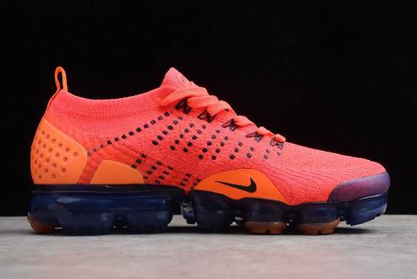 Men's Shoes Nike Air VaporMax Flyknit 2 Red/Dark Blue-Orange