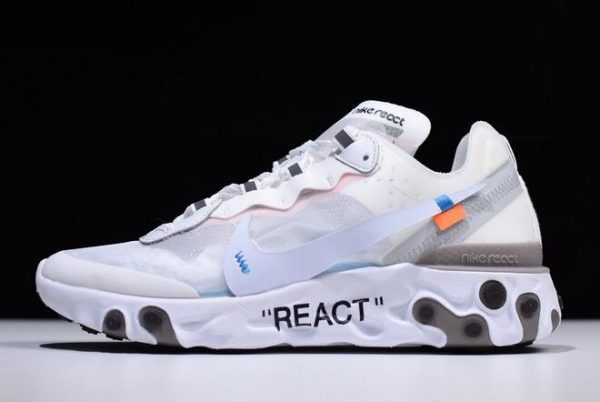 2018 Off-White x Undercover x Nike React Element 87 White/Cone-Ice Blue For Sale